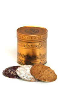 """6 Elisenlebkuchen, Golddose """"Nürnberger Gold"""""""